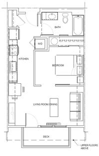 1A: 1 Bedroom, 1 Bath