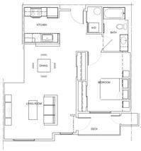 1C: 1 Bedroom, 1 Bath