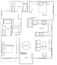 2A (accessible): 2 Bedroom, 2 Bath