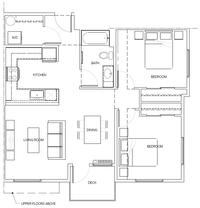 2B: 2 Bedroom, 1 Bath