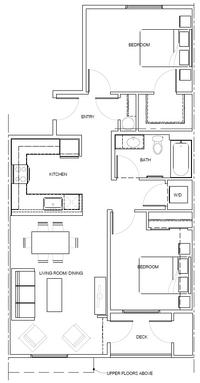 2E: 2 Bedroom, 1 Bath